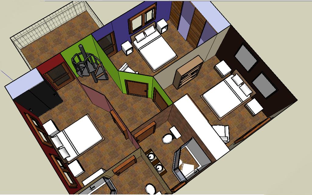 Casa con tres plantas cochera s3 dise os for Casas de tres recamaras